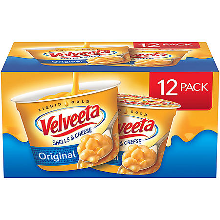 Velveeta Shells & Cheese Microwavable Macaroni and Cheese (2.39 oz. Cups, 12 ct.)