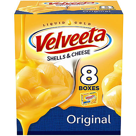 Velveeta Original Shells & Cheese (12 oz. Boxes, 8 ct.)