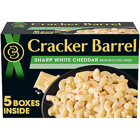 Cracker Barrel Macaroni & Cheese Boxes, White Cheddar (14 oz., 5 pk.)