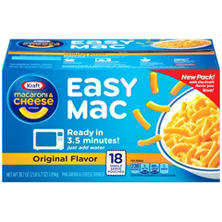 Kraft Macaroni & Cheese Dinner, Easy Mac Original Flavor  (18 ct.)