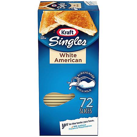 Kraft Singles White American Cheese Slices (48 oz., 72 ct.)