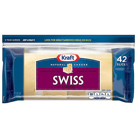 Kraft® Deli Fresh Slices Natural Swiss - 42ct