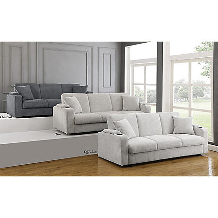 Kenna Upholstered Sofa Bed (Assorted Colors)