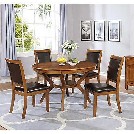 Bixby 5-Piece Dining Set, Deep Brown