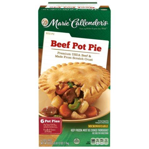 Marie Callender's Beef Pot Pie (10 oz., 6 ct.)