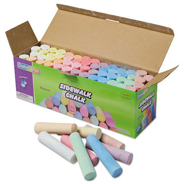 Jumbo Sidewalk Chalk - 52 Pieces per Container
