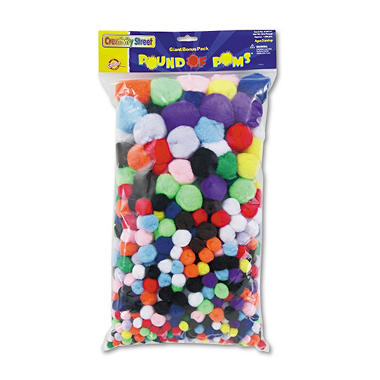 Pound of poms giant bonus pack,assorted