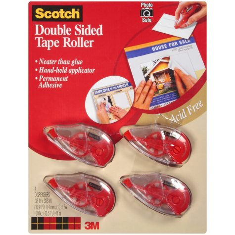 Scotch® Double Sided Tape Roller - 4 ct.