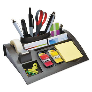 Post-it - Notes Dispenser with Weighted Base, Plastic, 12 x 8 x 2 -  Charcoal Gray