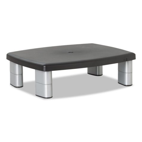 3M Premium Adjustable Monitor Stand, Black/Silver