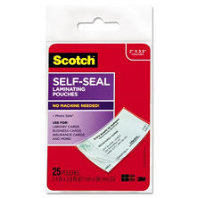 3M - Scotch Self-Laminating Business Card Pouches