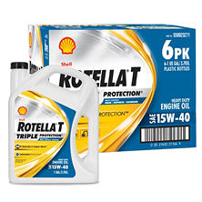 Rotella T Triple Protection 15W40 Heavy-Duty Diesel Engine Oil (6-pack / 1 gallon bottles)