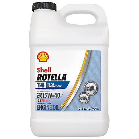 Rotella T4 Triple Protection 15W40 (2-pack / 2.5 gallon bottles)