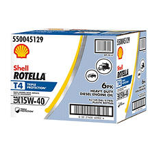 Rotella T4 Triple Protection 15W40 Heavy-Duty Diesel Engine Oil (6-pack / 1 gallon bottles)
