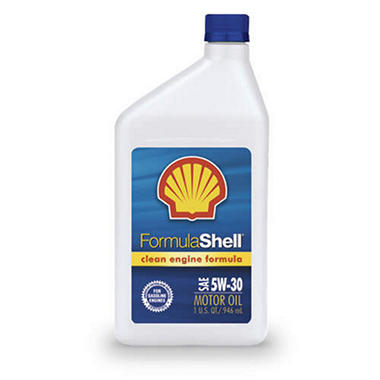 Formula Shell Sae 5w30 Motor Oil 1 Quart Bottles 12