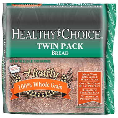 Healthy Choice Hearty 100% Whole Grain Bread - 2 ct.