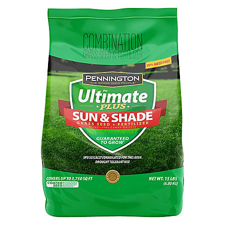Pennington The Ultimate Plus Grass Seed and Fertilizer Sun and Shade Mix - 15 lb. South Mix