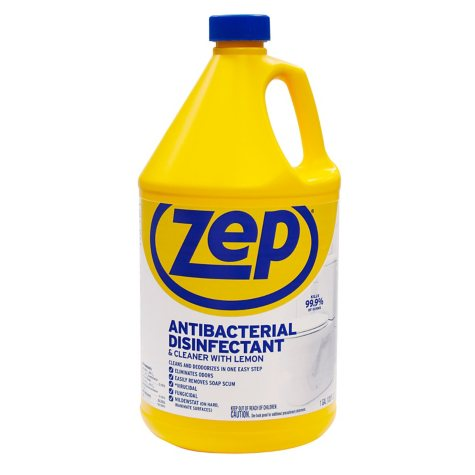 Zep Commercial Anti-Bacterial Disinfectant and Cleaner with Lemon (1gal.)