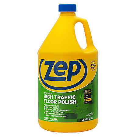 Zep Commercial High Traffic Floor Polish 1 Gal Sam S Club