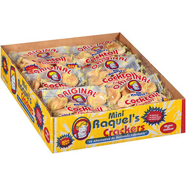 Raquel's Mini Cocktail Crackers - 1.5 oz. - 12 pk.