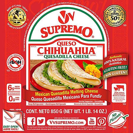 V&V Supremo Queso Chihuahua Quesadilla Cheese (30 oz.)