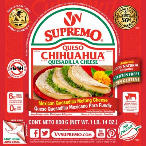 V&V Supremo Queso Chihuahua Quesadilla Cheese (30 oz.)