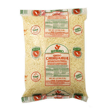 Supremo® Chihuahua® Shredded Cheese - 5lb
