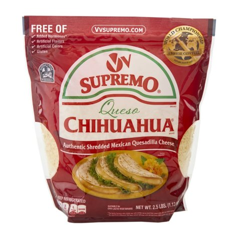 V&V Supremo Queso Chihuahua Shredded Quesadilla Cheese (2.5 lbs.)