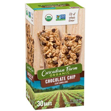 Cascadian Farm Chocolate Chip Chewy Granola Bar (30 ct.)