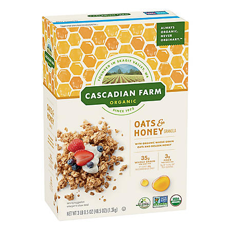 Cascadian Farm Organic Oats and Honey Granola Cereal (48.5 oz.)