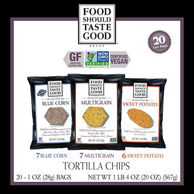 Food Should Taste Good Variety Pack Tortilla Chips - 20 (1oz) Bags