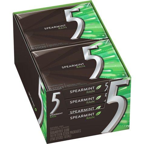 Wrigley's 5 Gum Spearmint Rain (15 ct., 10 pks.)