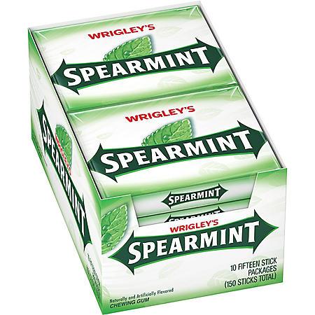 Wrigley's Spearmint Gum (10 pk.)