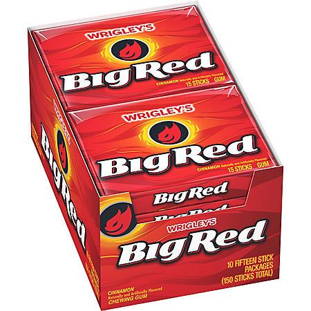 Wrigley's Big Red Cinnamon Gum (10 pk.)