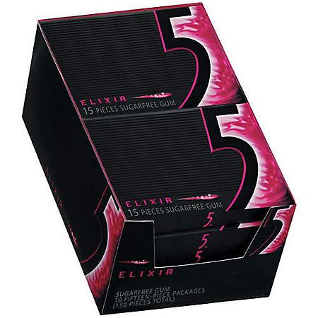 5™ Sugarfree Gum Elixir - 10/15ct tray