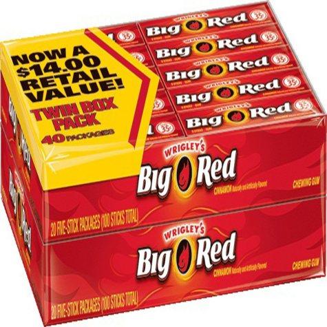 Wrigley's Big Red Gum (5 ct., 40 pks.)