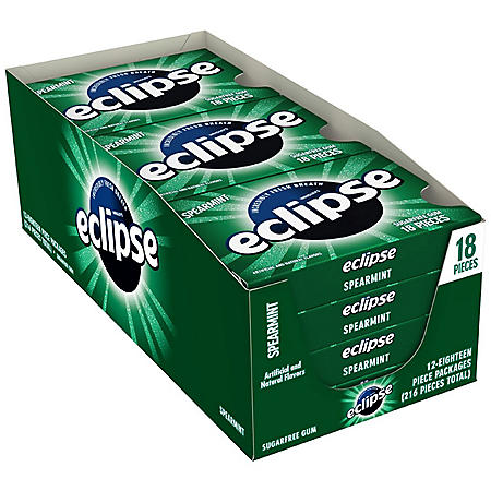 Eclipse Spearmint Sugar-free Gum (18 ct., 12 pks.)