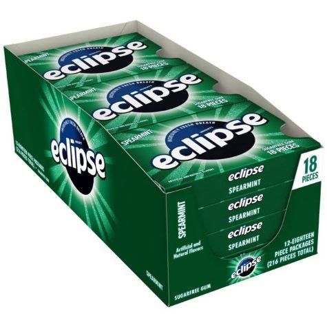 Eclipse Spearmint Sugar-free Gum (18 ct., 12 pks.)