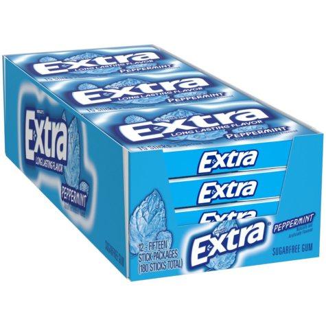 Extra Peppermint Sugar-Free Gum (15 ct., 12 pks.)