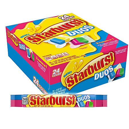 Starburst Duos Fruit Chews Full Size (24 ct.)