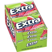 Extra Sweet Watermelon Gum - 15 piece pks. - 10 ct.