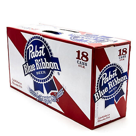 PABST BLUE RIBBON 18 / 12 OZ CANS
