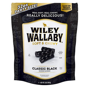 Wiley Wallaby Gourmet Black Licorice (32 oz.)