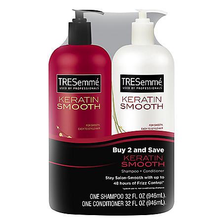 D-TRESemme Keratin Smooth Shampoo & Conditioner (32 fl. oz., 2 pk)