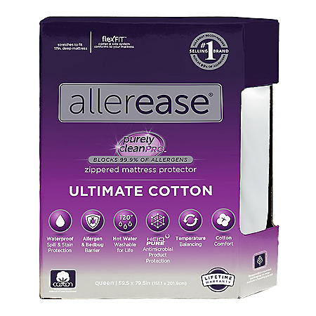AllerEase Ultimate Protection and Comfort Temperature-Balancing Waterproof Mattress Protector