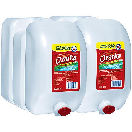 Ozarka 100% Natural Spring Water (2.5gal / 2pk)