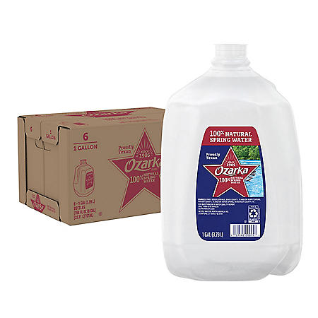Ozarka 100% Natural Spring Water (1gal / 6pk)