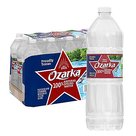 Ozarka 100% Natural Spring Water (1L / 15pk)
