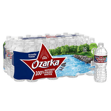 Ozarka 100% Natural Spring Water (0.5 L, 32 pk.)
