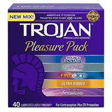 Trojan? Pleasure Pack Premium Latex Condoms - 40 ct.